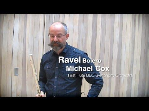 Ravel - Bolero flute solo demonstrated by Michael Cox