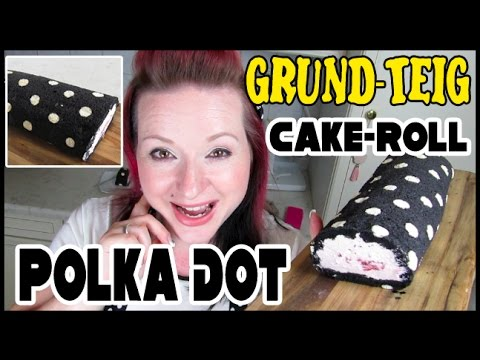Polka Dot Cake Roll / Biscuit Rolle (Grundteig) + Outtakes