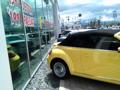 "V10544 - 2013 Beetle Convertible ""Yellow Rush"" Larry Miller VW Tucson"