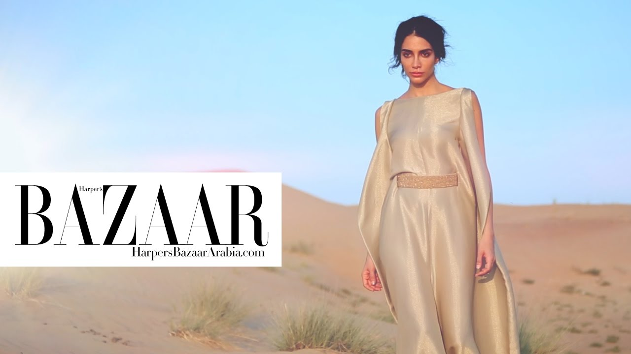 Project Runway Arabia >> Jessica Kahawaty for Harper's Bazaar Arabia January 2017 - YouTube