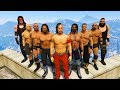 GTA 5 MAZE BANK ROYAL RUMBLE MATCH (GTA V WWE Mods)