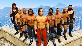 GTA 5 MAZE BANK ROYAL RUMBLE MATCH (GTA V WWE Mods)