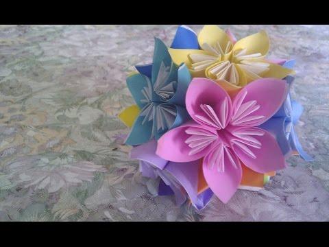 Easy Origami Flower Globe How To Make Origami Flowers Globe Very