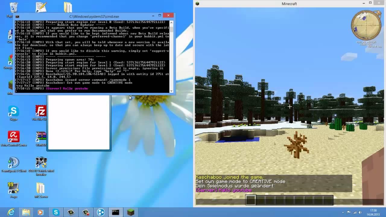 how to make a minecraft server windows 8