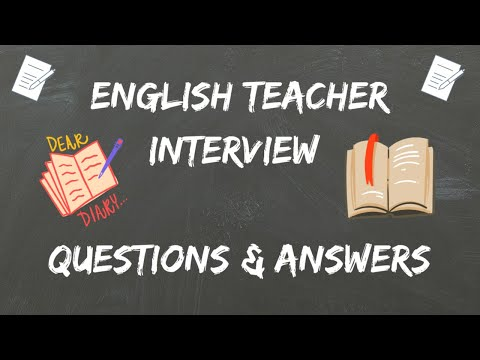 English Teacher Interview Questions  Answers - YouTube
