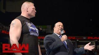 "Brock Lesnar hat genug von den ""Goldberg""-Sprechchören: Raw, 24. Oktober 2016"