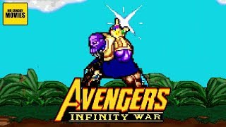 The Thanos Snap Avengers Infinity War - 16 Bit Scenes