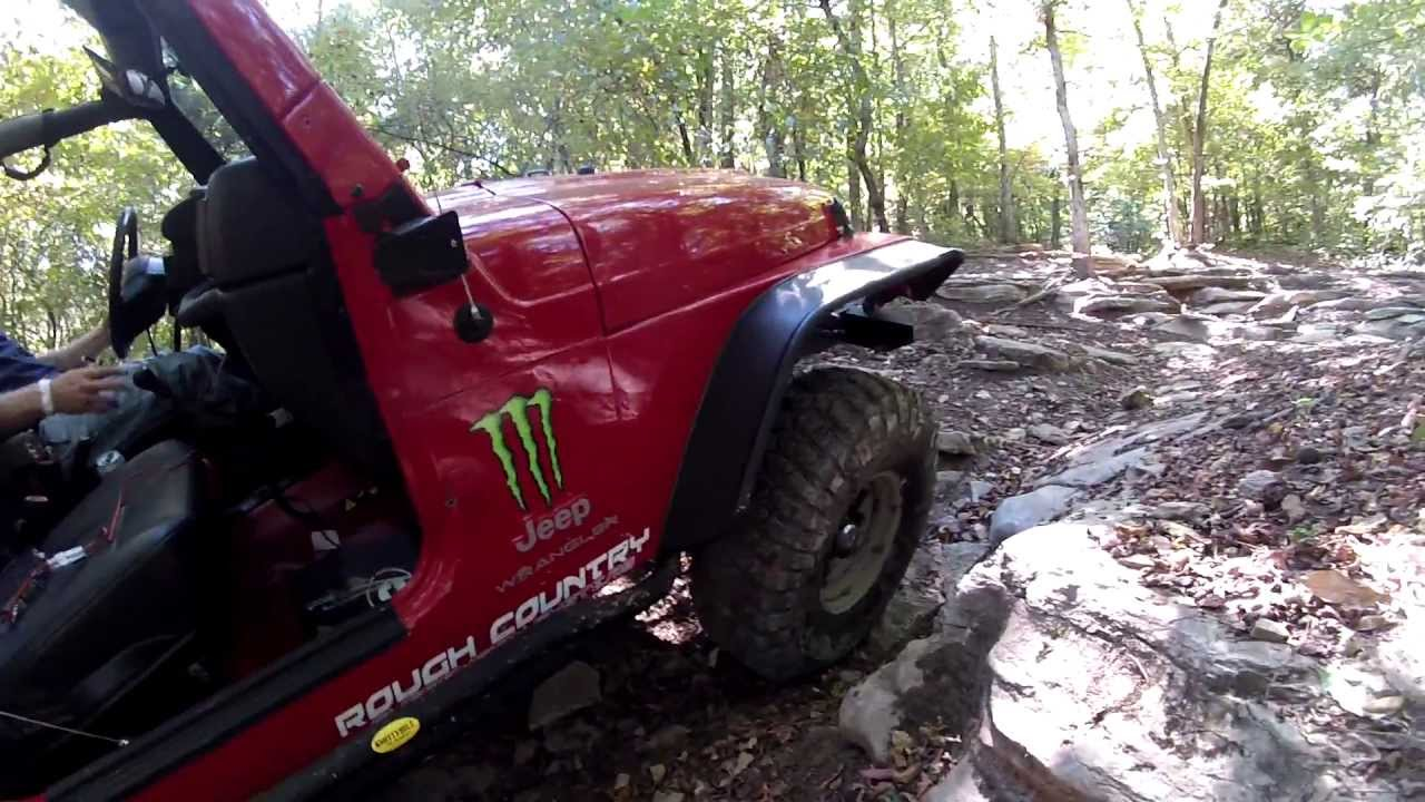 Tread Lightly ... Setting Up A Tree Saver For Winching A Jeep TJ Wrangler