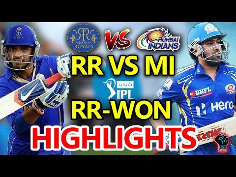 Live Match:RRvsMI Live IPL,Rajasthan Royals vs Mumbai Indians Live Online streaming:MI-11/1