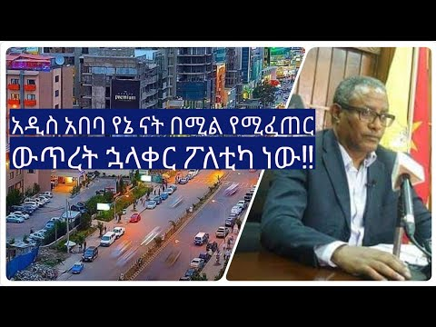 What Mr Gedu Andargachew said about Addis Ababa