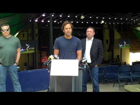 County Executive Ulman, Musician Jack Johnson Highlight Merriweather Improvements