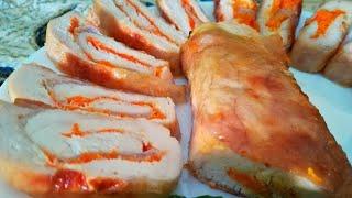 Куриные рулеты    Блюдо на ужин или праздничный стол