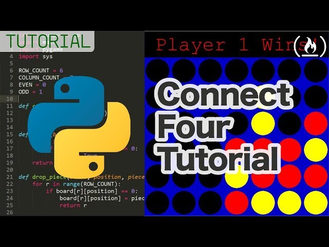 Connect Four Python Game Tutorial with pygame