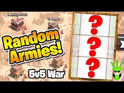 5v5 WAR with Random Army Picker! - Warring with Myself! - Clash of Clans - 5 Account War!
