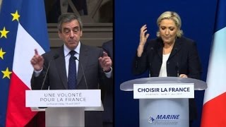Video: Francia: la ultraderechista Le Pen plagia discurso de Fillon