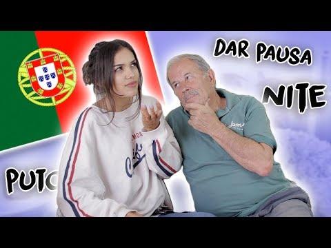 ensinei o meu avô a falar calão português!