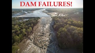 Michigan Dam(s) Fail!   Tittabawassee River.
