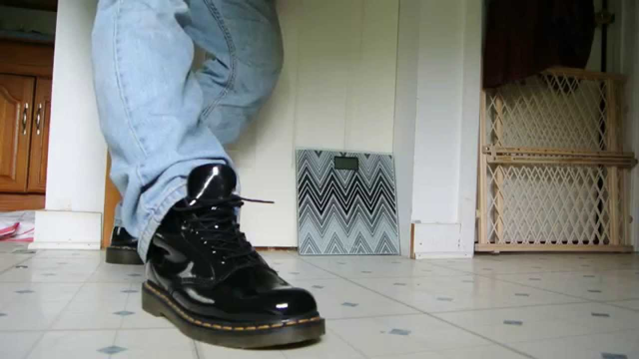 08a10adc18c Doc Dr Martens Shiny Patent Leather Boots
