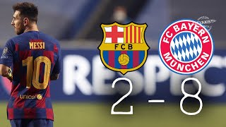 Barcelona 2-8 Bayer Münih 🔥 * Maç Özeti * Tüm Goller - HD Kalite Maç Özeti