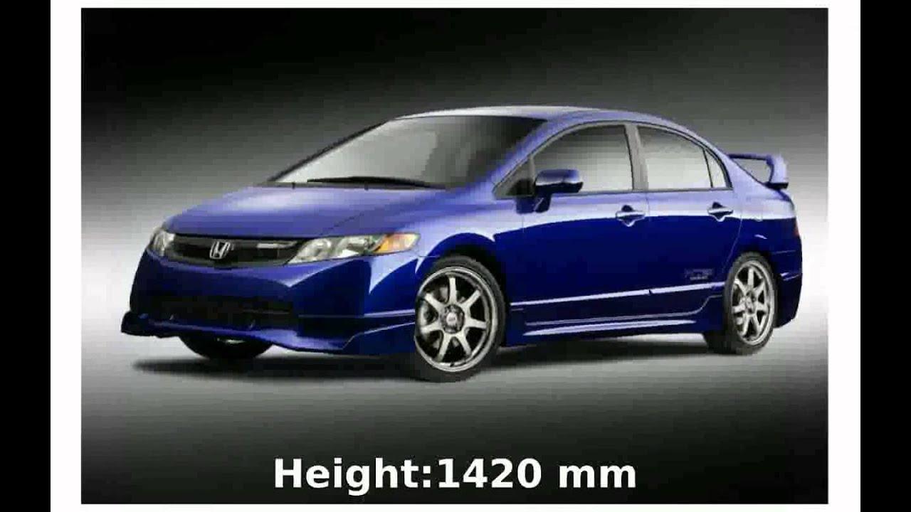 2007 Honda Civic Mugen Si Sedan Price Engine Specs Technical Details  Acceleration