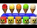 Ice Cream Cones Playset for Children Learn colors for Kids Toddlers and Babies