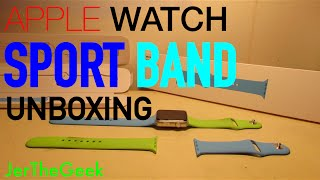 Apple Watch Sport Band (Blue, 42mm) Unboxing