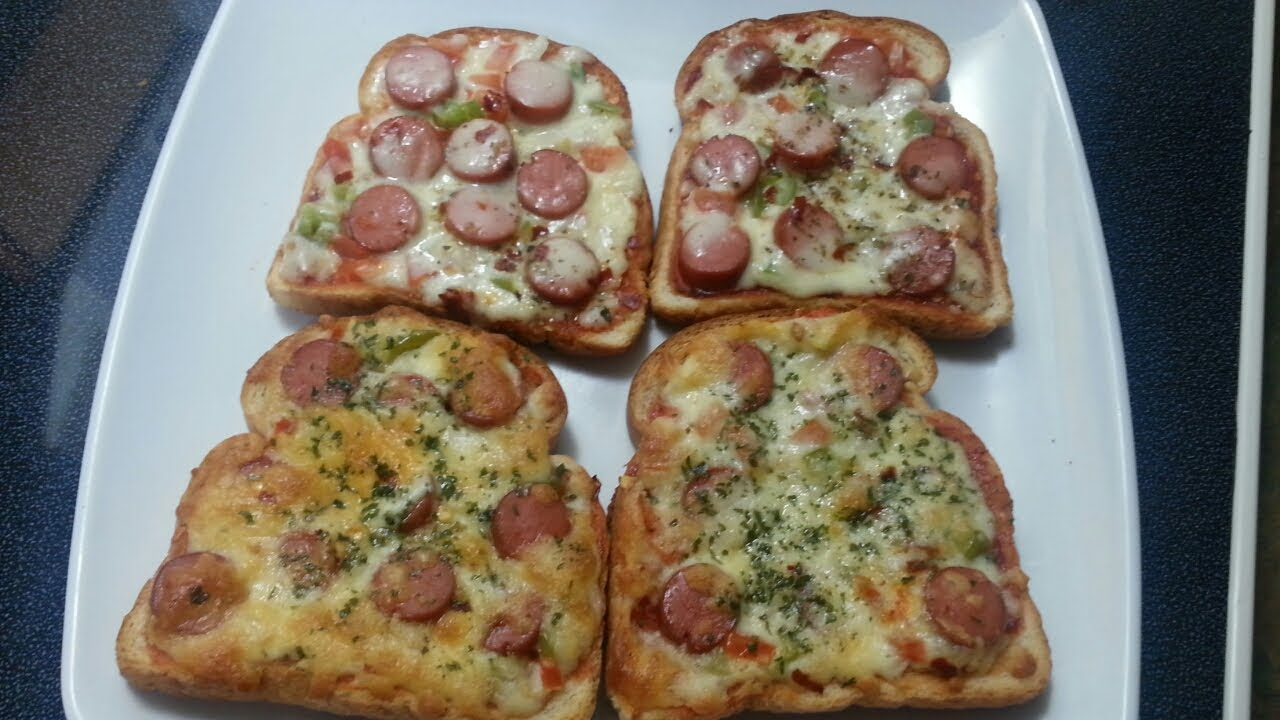 Pizza Bread In the Oven  And Without Oven.Healthy And Easy Breakfast Pizza Bread.