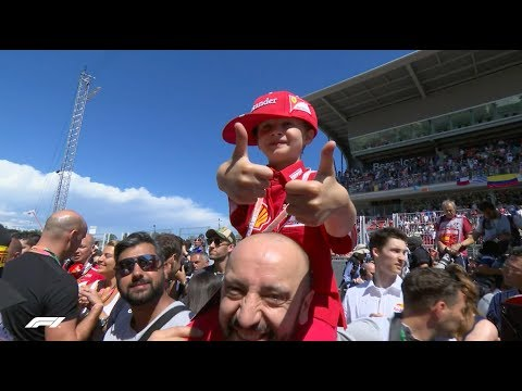 Kimi Fan Meets His Idol | 2017 Spanish Grand Prix