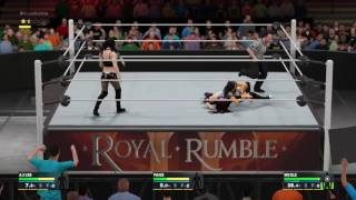 WWE 2K17 Royal Rumble 2017 Paige Vs Aj Lee Vs Nicole