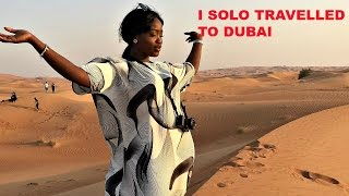 I TRAVELLED ALONE TO DUBAI DAY 1 SUMMER 2016 |DUBAI MALL&DANCING FOUNTAIN| Freebornnoble