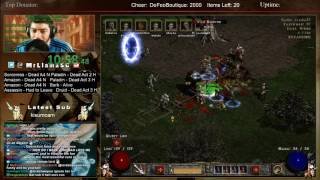 Diablo 2 - 8 Man Hell Speedrun (06/23/2017) - SO MUCH SPICE TODAY
