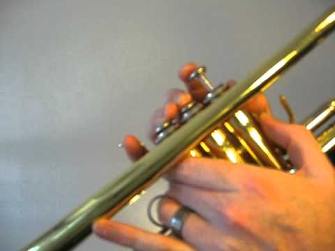 How to play the Trumpet C Sharp Major Arpeggio (Concert B) - YouTube