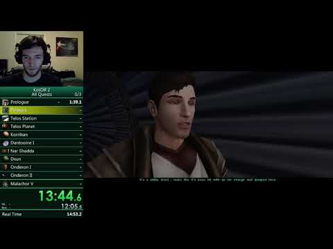 SW: KotOR 2 All Quests in 3:13:43