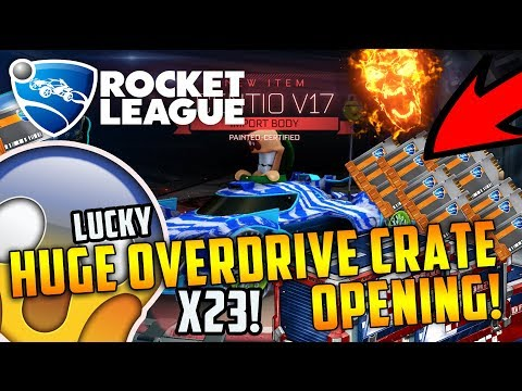 INSANE ROCKET LEAGUE OVERDRIVE CRATE OPENING!!! - IMPORT + BLACK MARKET EXPLOSION BACK TO BACK 😲