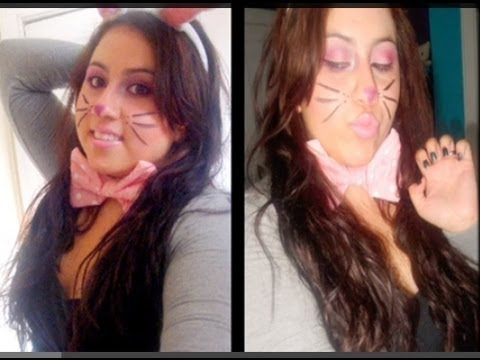 Halloween: Cute Bunny Makeup - YouTube