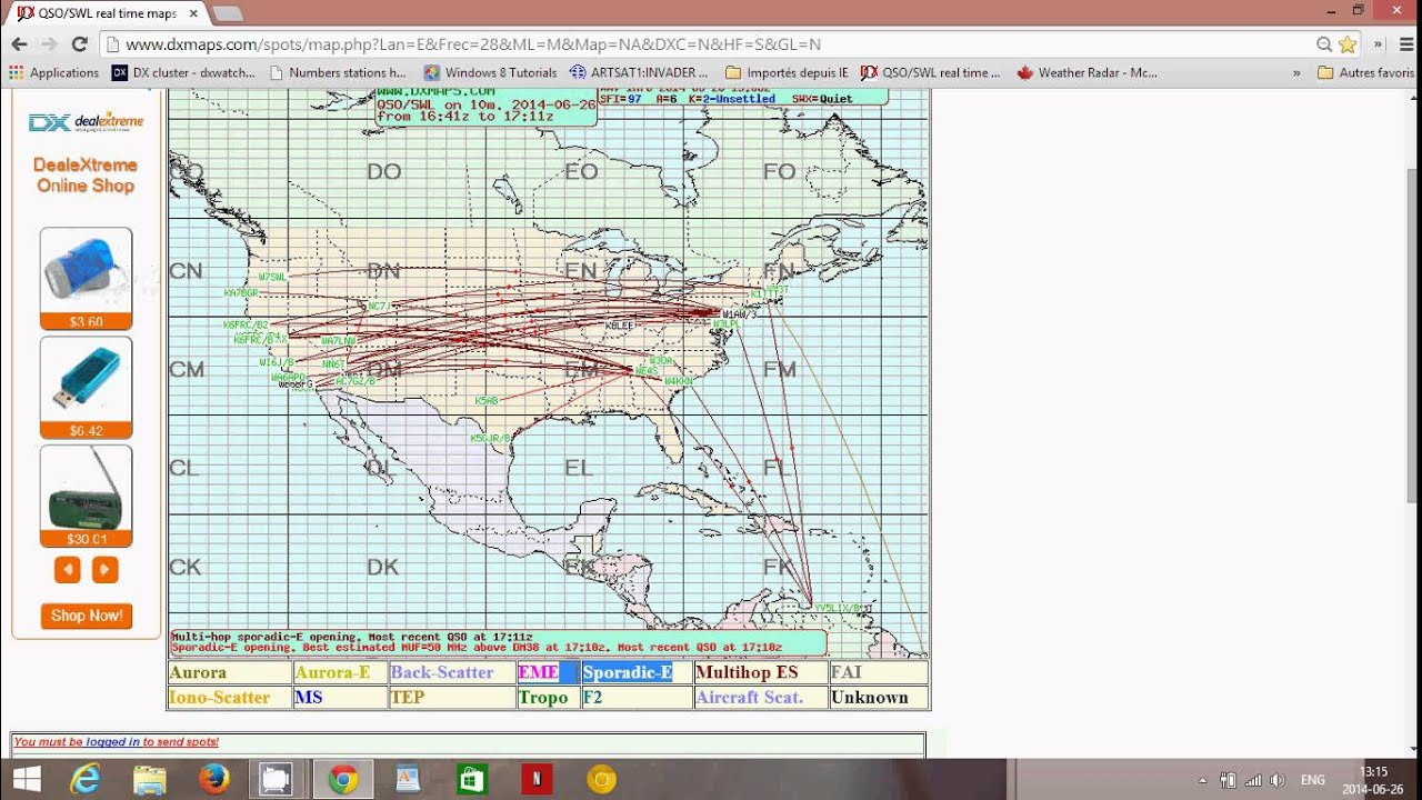 Using DX Maps to understand HF propagation conditions   YouTube