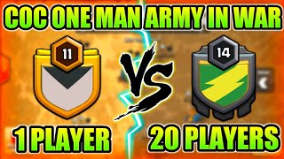 ONE MAN ARMY! BEST SINGLE WAR PLAYER IN CLASH OF CLANS HISTORY