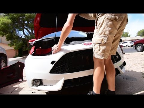 Ford Focus Se To ST Conversion | Front Bumper Installation