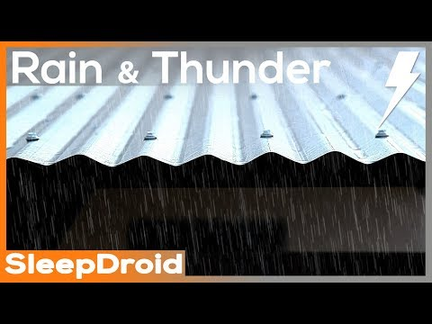 ►10 hours of Real Rain and Thunder on a Tin Roof. HD video,