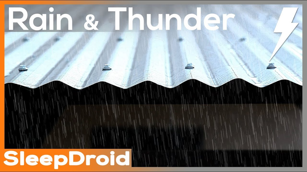 10 Hours Of Real Rain And Thunder On A Tin Roof Hd Vi