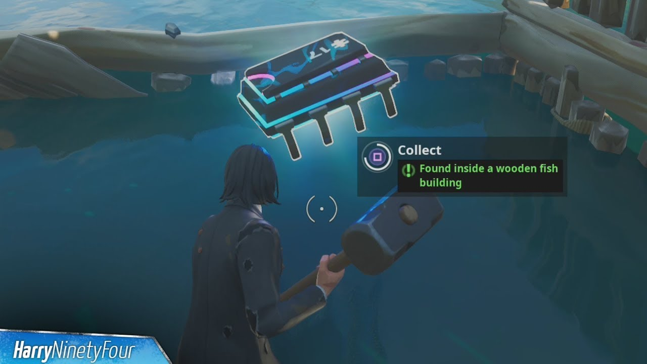 Fortbyte 17 Found Inside A Wooden Fish Building Location Guide Fortnite