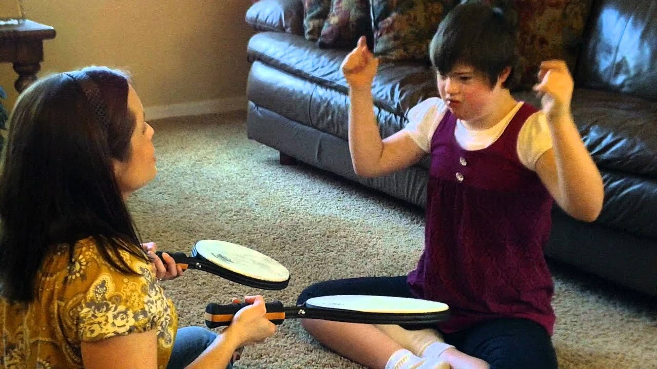 Music Therapy Session drumming intervention