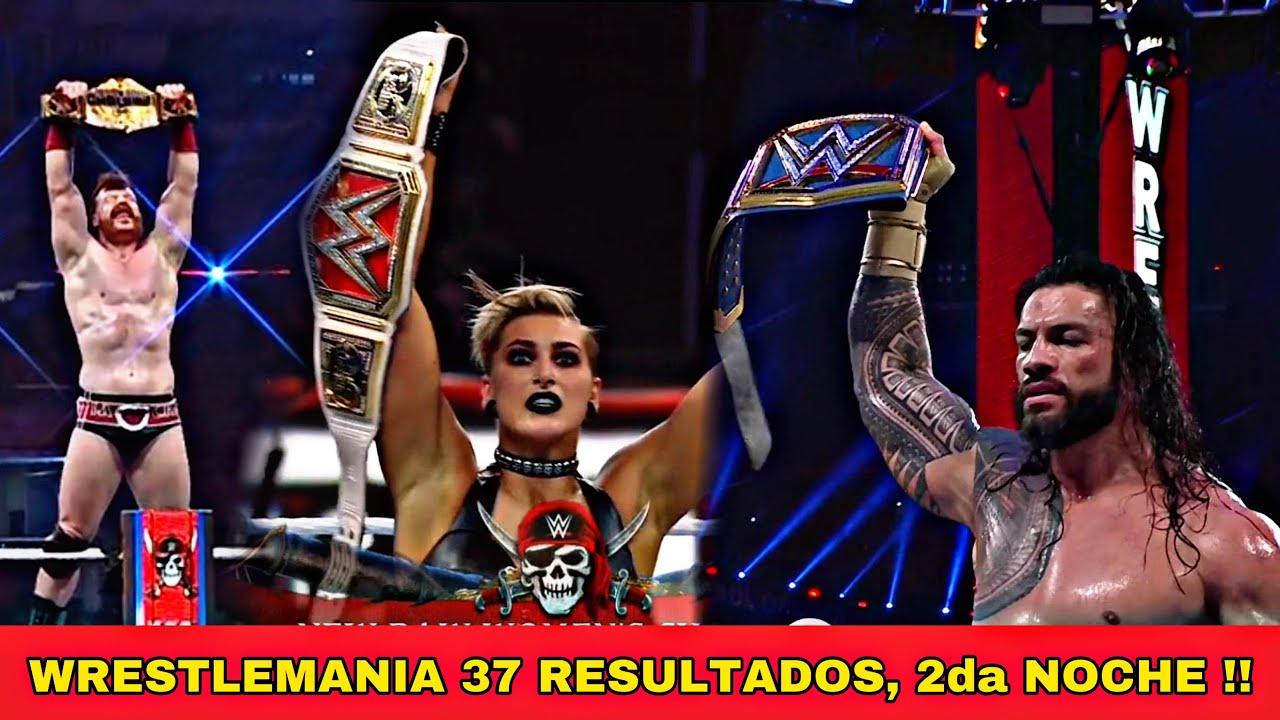 Wrestlemania 37 Resultados, Segunda Noche