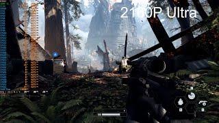 SW Battlefront 2 (2017)   4K   1440p   1080p   720p   4K MP   Ryzen 3950X   GTX 1080Ti   32 GB Ram