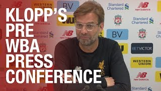 Jürgen Klopp's pre-West Brom press conference | Salah update, Wenger and injury news