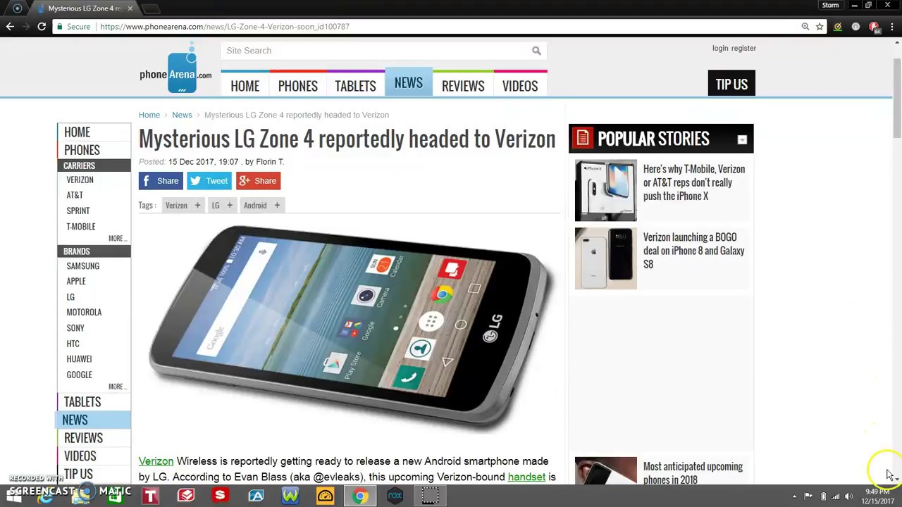 LG Zone 4 Coming to Verizon Wireless on its Prepaid Lineup