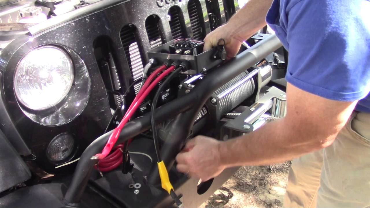 hight resolution of jeep wrangler winch install part 3