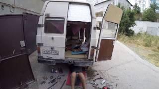 ВАРИМ БАМПЕР ДЕЛАЕМ РАЗВАЛ-СХОЖДЕНИЕ! НА VW LT 28!!! ГОТОВИМ КЕМПЕР К ПОЕЗДКЕ!!!