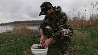 Весенняя Рыбалка на реке Челбас попал на хороший жор карася