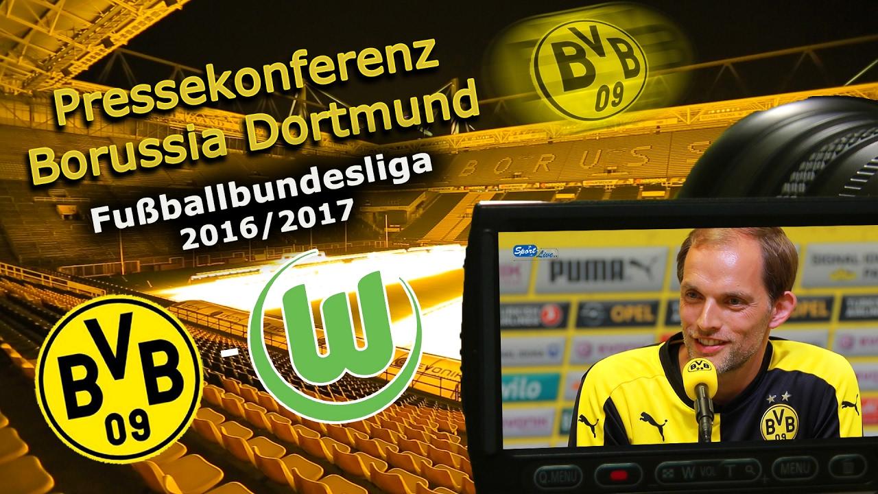 Borussia Dortmund - VfL Wolfsburg: Pk mit Thomas Tuchel